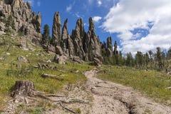 Formações de rocha de Black Hills cênicos fotografia de stock