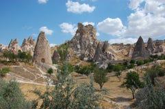 Formações de rocha de Cappadocia Fotos de Stock