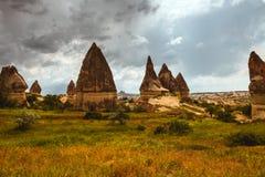 Formações de rocha de Cappadocia Fotografia de Stock
