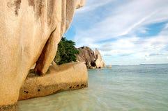 Formações de rocha de Digue do La imagem de stock royalty free