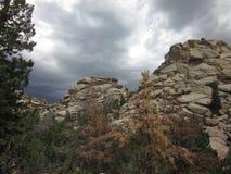 Formações de rocha de Vedauwoo Fotografia de Stock