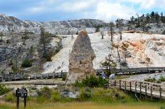 Formações de rocha de Yellowstone imagens de stock