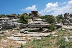 Formações de rocha do EL Torcal Foto de Stock Royalty Free