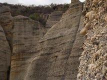 Formações de rocha do pedregulho do pierada de pedra no parque de Serra da Capivara fotografia de stock royalty free