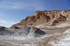 Formações de rocha do vale da lua Imagem de Stock