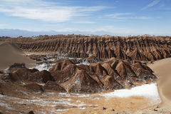 Formações de rocha do vale da lua Fotografia de Stock Royalty Free