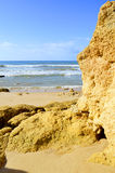 Formações de rocha espetaculares no vendaval da Dinamarca do Praia Imagem de Stock Royalty Free