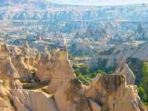 Formações de rocha incríveis, Cappadocia, Turquia fotos de stock