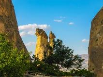 Formações de rocha incríveis, Cappadocia, Turquia foto de stock royalty free
