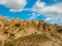 Formações de rocha incríveis, Cappadocia, Turquia imagem de stock royalty free