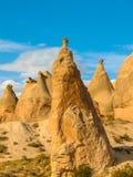 Formações de rocha incríveis, Cappadocia, Turquia fotos de stock royalty free