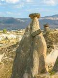 Formações de rocha incríveis, Cappadocia, Turquia imagens de stock