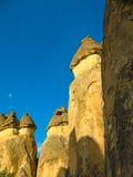 Formações de rocha incríveis, Cappadocia, Turquia fotografia de stock royalty free