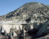 Formações de rocha incríveis em Cappadocia, Turquia foto de stock