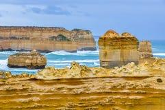 Formações de rocha na grande estrada do oceano, Austrália fotografia de stock royalty free