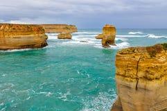 Formações de rocha na grande estrada do oceano, Austrália imagem de stock royalty free