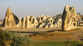 Formações de rocha na região do ` s Cappadocia de Turquia Foto de Stock Royalty Free
