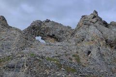 Formações de rocha no ártico Imagens de Stock