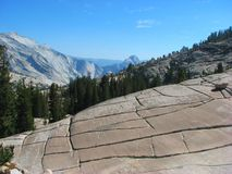 Formações de rocha no parque nacional de Yosemite, Califor fotos de stock royalty free