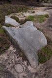 Formações de rocha no vale no parque nacional do distrito máximo, Derbyshire da esperança Imagens de Stock Royalty Free