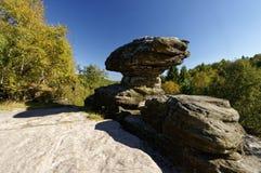 Formações de rocha originais cercadas pela floresta densa Fotografia de Stock