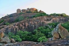 Formações de rocha pitorescas do parque nacional de Matopos, Zimbabwe fotografia de stock
