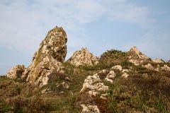 Formações de rocha velhas do granito fotografia de stock