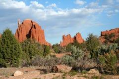 Formações de rocha vermelhas de Utá Imagens de Stock