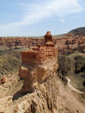 Formações de rocha vermelhas e amarelas da pedra seca Fotos de Stock Royalty Free