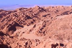 Formações de sal no la Luna de Valle de Imagem de Stock