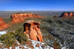 Formações do monumento nacional de Colorado Imagem de Stock