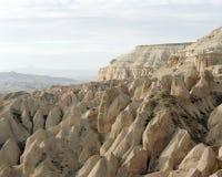 Formações e paisagem de rocha incríveis em Cappadocia, Turquia Fotos de Stock