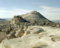 Formações e paisagem de rocha incríveis em Cappadocia, Turquia Fotografia de Stock Royalty Free