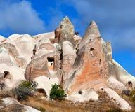 Formações geological originais em Cappadocia, Anatolia central, a Turquia Foto de Stock