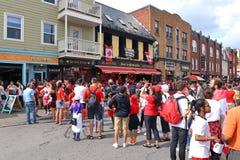 Formações longas para o dia de Canadá em Ottawa Foto de Stock