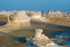 Formações no deserto branco Imagens de Stock Royalty Free