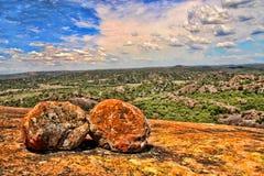 Formações rochosas bonitas de parque nacional de Matopos, Zimbabwe imagem de stock