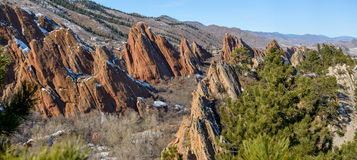 Formações vermelhas da fonte da rocha no parque estadual de Roxborough Imagens de Stock Royalty Free