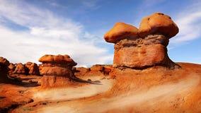 Formações vermelhas do arenito da rocha, vale da garganta Imagens de Stock Royalty Free