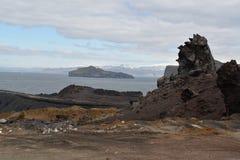 Formações vulcânicas em Vestmannaeyjar imagens de stock royalty free