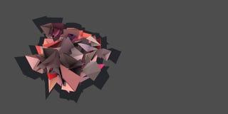 forma 3d elétrica cravada cor-de-rosa abstrata Fotografia de Stock Royalty Free