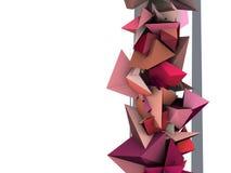 forma 3d elétrica cravada cor-de-rosa abstrata Foto de Stock Royalty Free