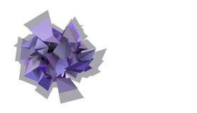 forma 3d elétrica cravada roxa abstrata Fotografia de Stock