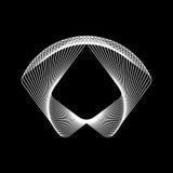 Forma abstracta blanca del fractal Imagen de archivo