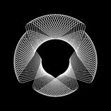 Forma abstracta blanca del fractal Foto de archivo libre de regalías