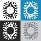 Forma abstracta de chapoteo Fotos de archivo libres de regalías