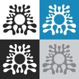 Forma abstracta de chapoteo Imágenes de archivo libres de regalías