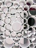 Forma abstracta de la opinión del tubo Fondo de los tubos Imagen de archivo