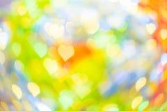 Forma abstracta del corazón del bokeh para el día del ` s de la tarjeta del día de San Valentín Fotografía de archivo libre de regalías