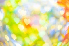 Forma abstracta del corazón del bokeh para el día del ` s de la tarjeta del día de San Valentín Fotos de archivo libres de regalías